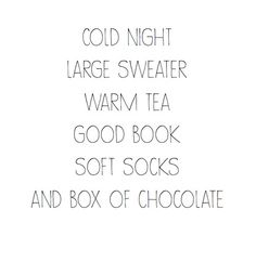 Winter on the way.... Book, tea and chocolate ....♥♥....