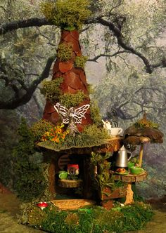 Fairy House- Woodland St. Coffee Shop by WoodlandFairyVillage, $42.99
