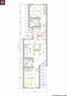 Casa 2 Quartos - 44.98m²