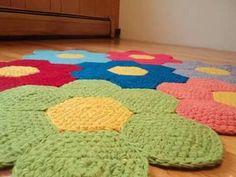 tappeto  fiori rug crochet