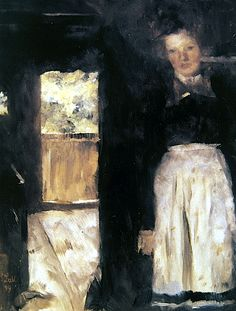 Wilhelm Leibl (1844-1900, Germany) -  Interieur, 1899