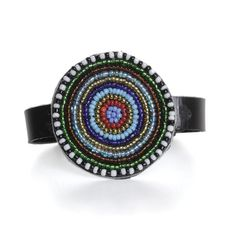 Maasai Beaded Leather Bracelet (J-B683)
