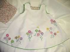 Yo-Yo Flower Garden Dress & Bloomers by Ms. Dot
