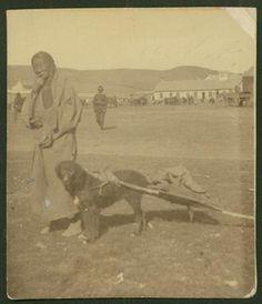 Mrs. Charging Thunder at Fort Yates, Noth Dakota - Hunkpapa - 1900