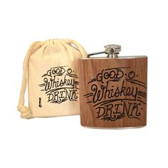 Whiskey Charm Flask