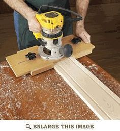 Fluting Jig Woodworking Plan, Shop Project Plan | WOOD Store. For the stairs treads.