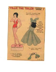 Miss Missy Paper Dolls: Tillie the Toiler