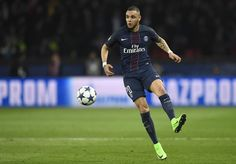 Paris Saint-Germain's French defender Layvin Kurzawa controls the ball during the UEFA Champions League round of 16 first leg football match between Paris Saint-Germain and FC Barcelona on February 14, 2017 at the Parc des Princes stadium in Paris. / AFP / CHRISTOPHE SIMON