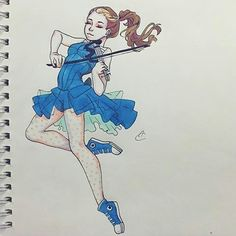 Drawing by @kyu_mulis #stirlingites #lindseystirling #braveenough #shatterme…