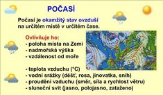 POČASÍ A PODNEBÍ :: Béčko-Tc Czech Republic, Montessori, Map, World, Location Map, Maps, The World, Bohemia