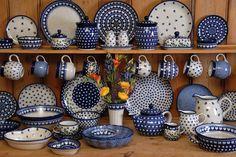 Polish pottery - Boleslawiec. Beautiful!  Piekne naczynia.