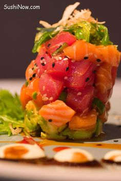 Sushi Presentation Fish Stack:  Techniques and Ideas. #sushi #japanese #foodart