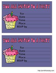 Printable Birthday Invitations For Boys