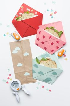 Back-to-school! Sandwich envelopes make lunchtime more fun.