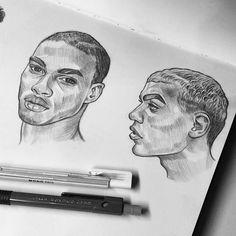 Drawing Realistic Skin Studies - skin tones and hair, sketchbook✏ Human Face Drawing, Guy Drawing, Art Sketches, Art Drawings, Portraits, Art Journal Pages, Art Sketchbook, Art Inspo, New Art