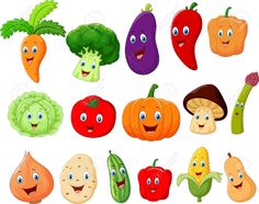 Cute Vegetable Cartoon Character Royalty Free Cliparts, Vectors, And Stock Illustration. Vegetable Drawing, Vegetable Cartoon, Cartoon Vegetables, Funny Vegetables, Drawing For Kids, Art For Kids, Free Cliparts, Decoration Creche, Banner Printing