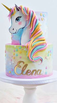 The Best Ideas To Make Unicorn Birthday Cake - Birthday Cake Flower Ideen Cute Cakes, Pretty Cakes, Beautiful Cakes, Amazing Cakes, Unicorne Cake, Eat Cake, Cupcake Cakes, Unicorn Birthday Parties, Unicorn Party