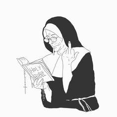 Nun of your bussiness Nun, Digital Art, Darth Vader, Photoshop, Graphic Design, Illustration, Fictional Characters, Illustrations, Fantasy Characters