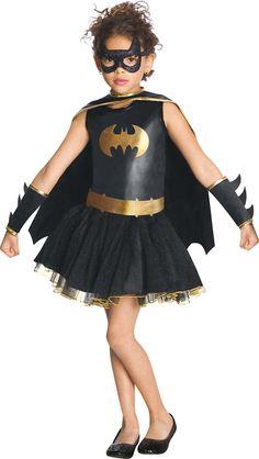 Disfraz Batgirl™ brillantina niña. Disponible en www.vegaoo.es