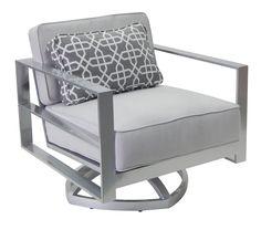 Sunnyland Patio Furniture - Horizons Cushion Club Swivel Chair by Castelle Pride…