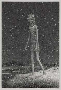 "Aron Wiesenfeld, Clear Lake, charcoal on paper, 19.5"" x 13"", 2011"
