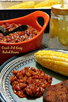 Crock-Pot Easy Baked Beans - You cannot go wrong with a slow cooker full of these Crock-Pot Easy Baked Beans. The perfect side dish for your next summer BBQ cookout! | recipe from Crockpotladies.com