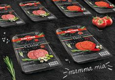 Carnex Italian Sausage on Packaging of the World - Creative Package Design Gallery Chorizo, Fish And Meat, Mamma Mia, Packaging Design Inspiration, Charcuterie, Raw Food Recipes, Carne, Grilling, Creative Package