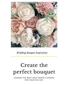 We've collected some ideas of gorgeous wedding bouquets using sola flowers to give you some inspiration for your own special event.  The best thing about sola flowers is that they are easily dye-able and can be colored to match your vision and color scheme. (Plus a tutorial to see how easy it is to dye these wood flowers to match your palette.) DriedDecor.com #bridalbouquet #diycrafts #ecoflowers #flowerarrangement #solaflowers #solawoodflowers #weddingbouquet #woodflowers