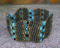 Creative side Marti (Marti's Creative Page) Zigzag Peyote Bracelet (Zigzag peyote bracelet)