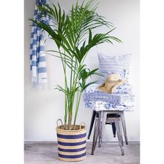 Design & After Blue Design, Laundry Basket, Wicker, Beach House, Marie, Couch, Throw Pillows, Bed, Home Interior