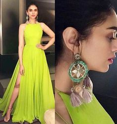 Explore the best of Aditi Rao Hydari outfits from which all the bridesmaids and bride-to-be can take inspiration from to glam up your look! Indian Wedding Outfits, Indian Outfits, Indian Designer Outfits, Designer Dresses, Stylish Dresses, Fashion Dresses, Indian Gowns Dresses, Kurti Designs Party Wear, Dress Indian Style