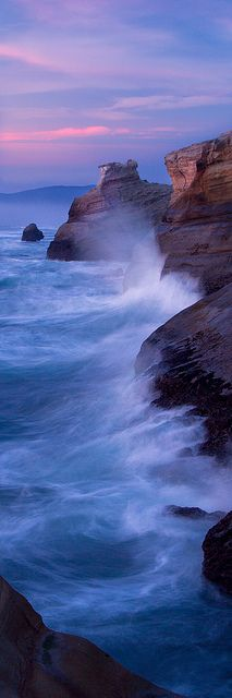 The Song of the Tides, Cape Kiwanda, Pacifc City, Oregon, United States.