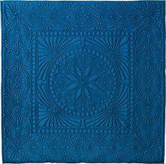 Wholecloth quilt using Robert Kaufman's Radiance fabric (a silk/cotton blend).