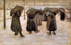 Van Gogh, women miners carrying coal