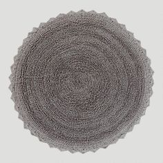 """Frost Gray Round Bath Mat, 24"""" diameter, $12.99 -- unique, gorgeous, soft, thick & comfy. Reversible and great price! [9/12/13] #masterbath"""