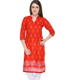 Buy Red Printed Women Kurta kurtas-and-kurti online