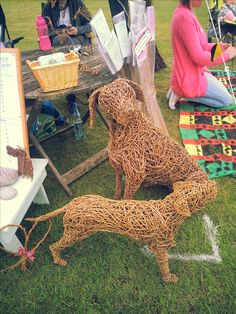 Willow sculpture - dogs