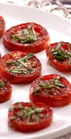 Balsamic Roasted Tomatoes Recipe. Repinned by www.mygrowingtraditions.com