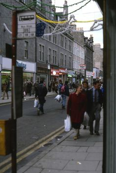 The bottom end of George Street was nearing the end of the road as a retail thoroughfare by late Aberdeen Scotland, City By The Sea, Silver City, North Sea, Beautiful Places, Street, Edinburgh, 1980s, Maps