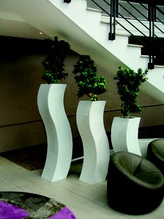 Wavy Planters combined to make a stylish piece within any home