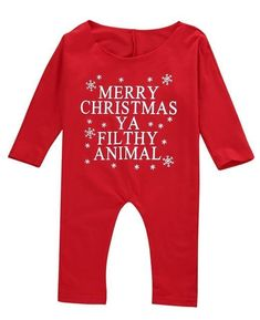 64c55207518df Babies Christmas Off-shoulder Romper Newborn Infant Kids Baby Girl Xmas  Rompers