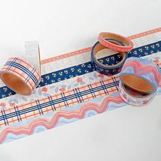 Take your crafting to the next level with this beautiful assortment of washi tapes from oneCanoetwo. Featuring floral, plaid, marble, and more oneCanoetwo artwork. Each tape design comes in varying widths. Organization Station, Washi Tape Set, Paper Source, American Crafts, Twilight, Floral, Design, Diy Ideas, Flowers