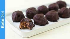 Keto Diet: Healthy Cookie Dough Truffles - YouTube