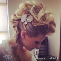 mohawk updo/ wedding/ prom