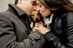 cute. u and ur hubby and ur puppy.