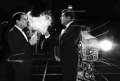 Frank Sinatra and Dean Martin on set of the Judy Garland TV show, 1962 photos by Bob Willoughby