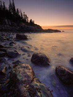 Moody Morning at Little Hunters Beach, Maine Coast