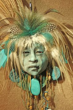 ☆ White Feather Handcrafted Clay Sculpture :¦: By Artist Misha Malpica ☆ Native Art, Native American Art, Indigenous Art, Sculpture Clay, Ceramic Clay, Clay Creations, Clay Art, Art Dolls, Sculpting