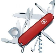 Victorinox Explorer Swiss Army Knife Red with Pouch