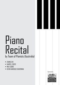 PIANO RECITAL CAMPAIGN DESIGN by Wayne y.m.h., via Behance Piano Recital, Jazz Art, Music School, Teaching Music, Piano Music, Design Reference, Music Notes, Brochure Design, Portfolio Design